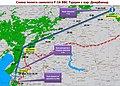 Схема полёта самолёта F-16 ВВС Турции с аэродрома Диярбакыр.jpg