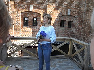 Radomysl Castle - Olga Bohomolets, the Radomysl castle's owner