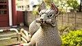 羽田稲荷社の狛狐 - panoramio.jpg