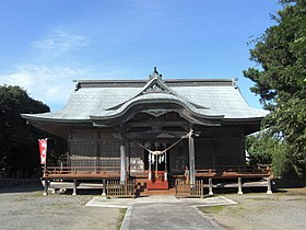 苕野神社拝殿、Haiden of Kusano-jinja shrine - Panoramio 41312095.jpg