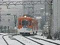 雪の中を走る阪堺電気軌道モ501形501号.JPG