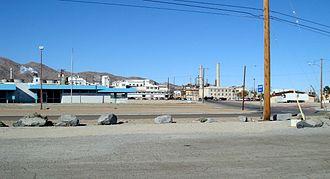 Trona, San Bernardino County, California - Searles Valley Minerals chemical plant dominates Trona