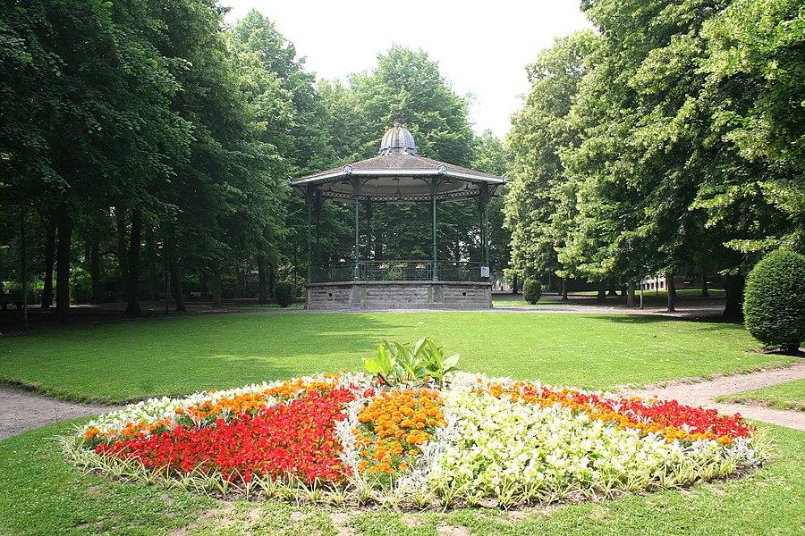 Tournai   (Belgium), the bandstand of  city hall park.