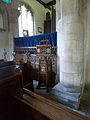 042 Stoke Rochford Ss Andrew & Mary, interior - north aisle lectern and screen.jpg