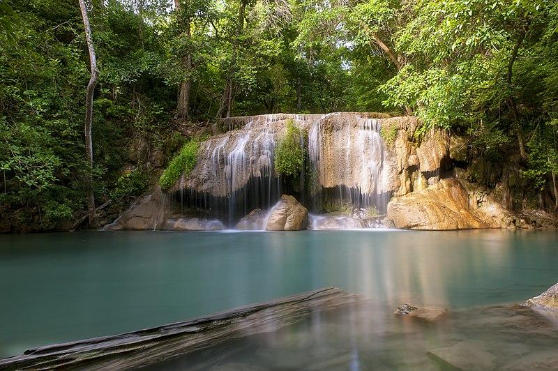 File:1012 - Erawan Waterfall, 2nd floor - Waterfall in Si Sawat.jpg