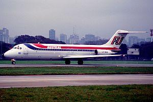 Austral Líneas Aéreas Flight 2553 - An Austral Líneas Aéreas McDonnell Douglas DC-9-32 similar to the aircraft involved in the accident