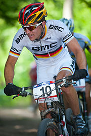 110529 GER Offenburg XC Men Milatz close by Kuestenbrueck.JPG
