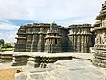 12th-century outside view of Shaivism Hindu temple Hoysaleswara arts Halebidu Karnataka India.jpg