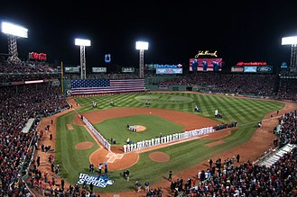 2013 World Series - Fenway Park during the pregame ceremony