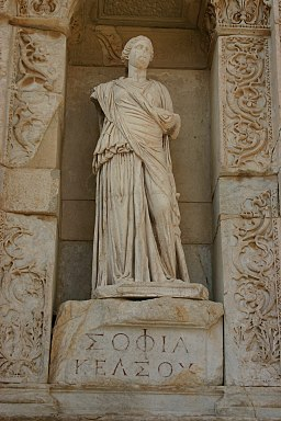 14.25 Sophia (Wisdom) in the Celsus Library in Ephesus