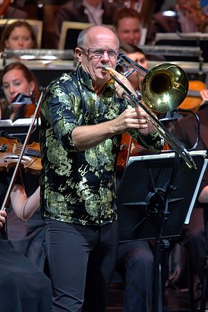 Christian Lindberg - Image: 15. Last Night of the Proms in Cracow – Christian Lindberg (1)