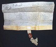 Un papel vitela que data de 1638.