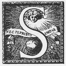 Représentant de la devise du roi NEC PLURIBUS IMPAR («supérieur à tous»)