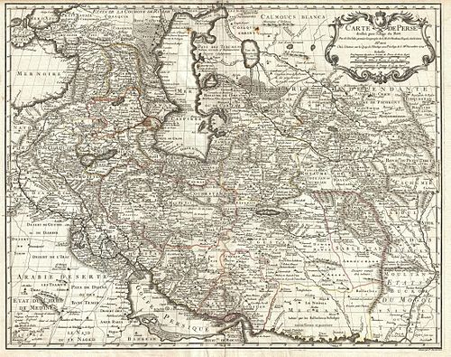 1724 De L'Isle Map of Persia (Iran, Iraq, Afghanistan) - Geographicus - Persia-delisle-1724.jpg