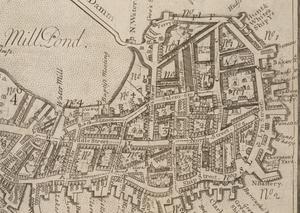 North Square (Boston, Massachusetts) - Image: 1743 North End Boston map William Price