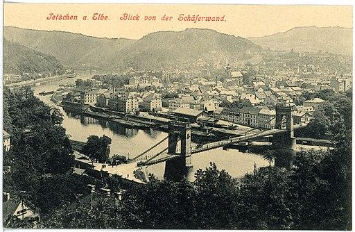 17910-Tetschen-1914-Blick auf Tetschen von der Schäferwand-Brück & Sohn Kunstverlag