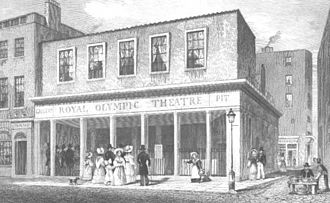 Olympic Theatre - 1831 engraving of the Royal Olympic Theatre