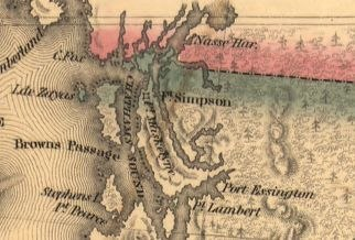 1841 map of the Oregon Territory