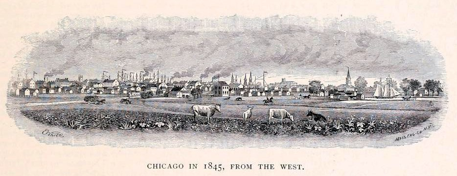 1845 Chicago from the west