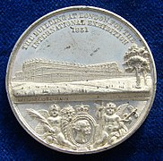 1851 Medal Crystal Palace World Expo London, obverse.jpg