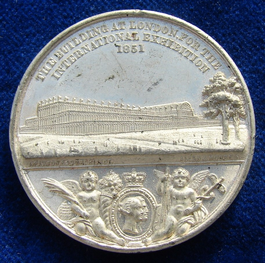 1851 Medal Crystal Palace World Expo London, obverse