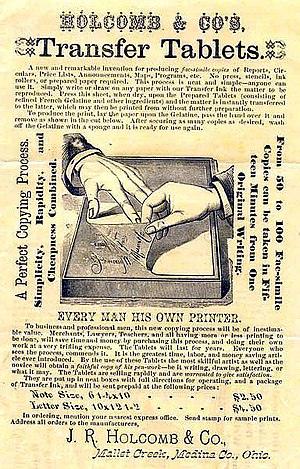 Hectograph - A 19th-century hectograph advertisement