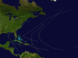 1894 Atlantic hurricane season - Image: 1894 Atlantic hurricane season summary