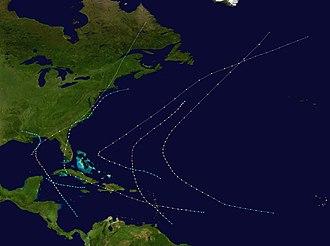 1894 Atlantic hurricane season - Image: 1894 Atlantic hurricane season summary