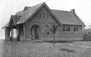 Blandford, Massachusetts - Blandford public library in 1899