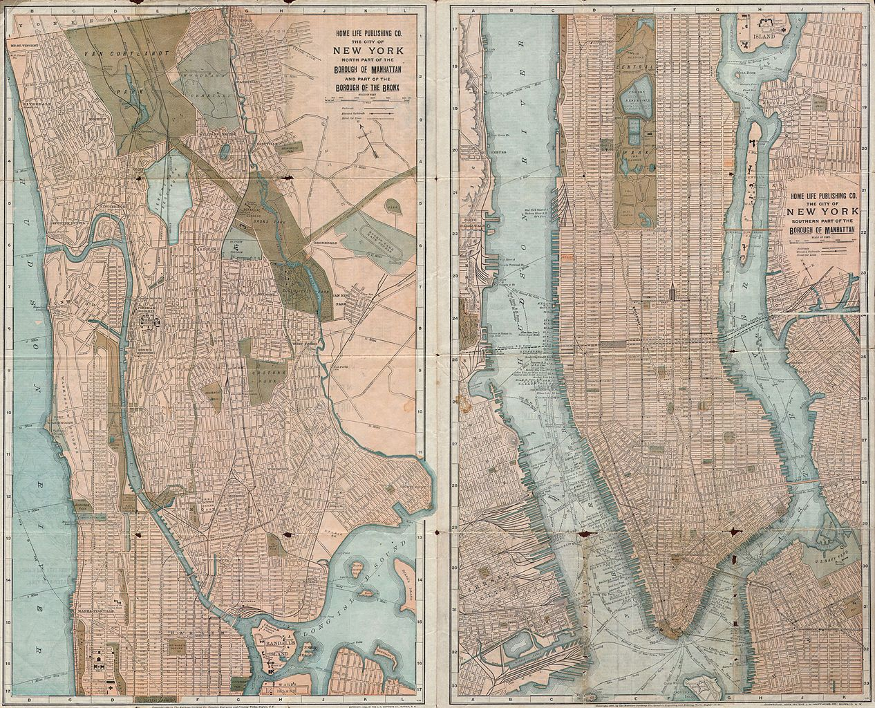 File 1899 Home Life Map Of New York City Manhattan And