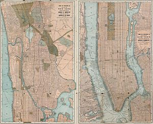 Hudson Line (Metro-North) - Image: 1899 Home Life Map of New York City ( Manhattan and the Bronx ) Geographicus NYC Home Life 1899