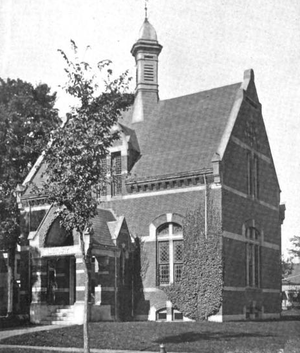 West Brookfield, Massachusetts - West Brookfield public library, 1899