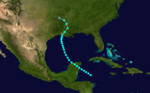 1905 Atlantic tropical storm 3 track.png