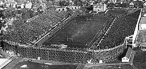 Illinois–Michigan football series - Aerial view of Ferry Field prior to the opening kick-off against Illinois in 1922