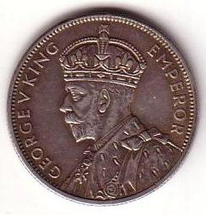 Florin (Australian coin) - Image: 1934 35 Australian florin obverse