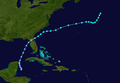 1964 Atlantic tropical storm 1 track.png