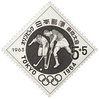 Field hockey at the 1964 Summer Olympics - Image: 1964 Olympics fhockey stamp of Japan
