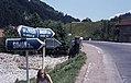 1976 Street signs near Brasov, Romania.jpg