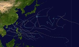 1988 Pacific typhoon season - Image: 1988 Pacific typhoon season summary