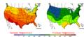 2008-06-20 Color Max-min Temperature Map NOAA.png