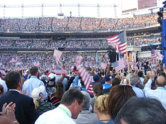 2008 United States presidential election - 2008 DNC during Stevie Wonder's performance