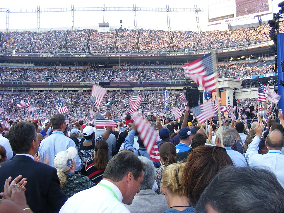 2008 DNC during Stevie Wonder's performance