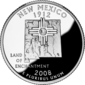 New Mexico quarter dollar coin