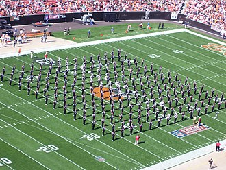 Ohio State University Marching Band - The 2008 Ohio State marching band performing before the Cleveland Browns season opening game of the 2008 season