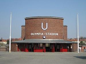 Olympia-Stadion (Berlin U-Bahn) - Entrance building