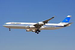 Airbus A340-300 der Kuwait Airways