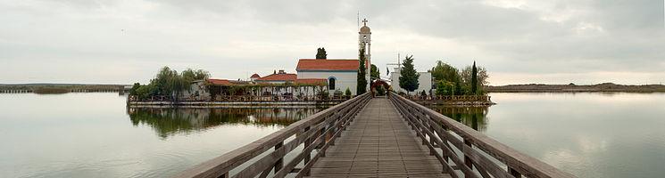 Agios Nikolas (Christian orthodox church), Vistonida lake, Xanthi Prefecture, Thrace, Greece.