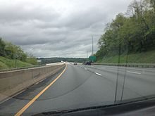2013-05-07 17 02 27 View southbound along I-95 just north of the Millard E. Tydings Memorial Bridge.jpg
