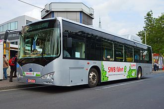 Electric vehicle - BYD K9, an electric bus powered with onboard Iron-phosphate battery