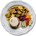 20140902 German National Food - Brawn jellied - Sülze mit Remouladensoße - Schullwitz 5 Euro 50 cent (Cut out).jpg